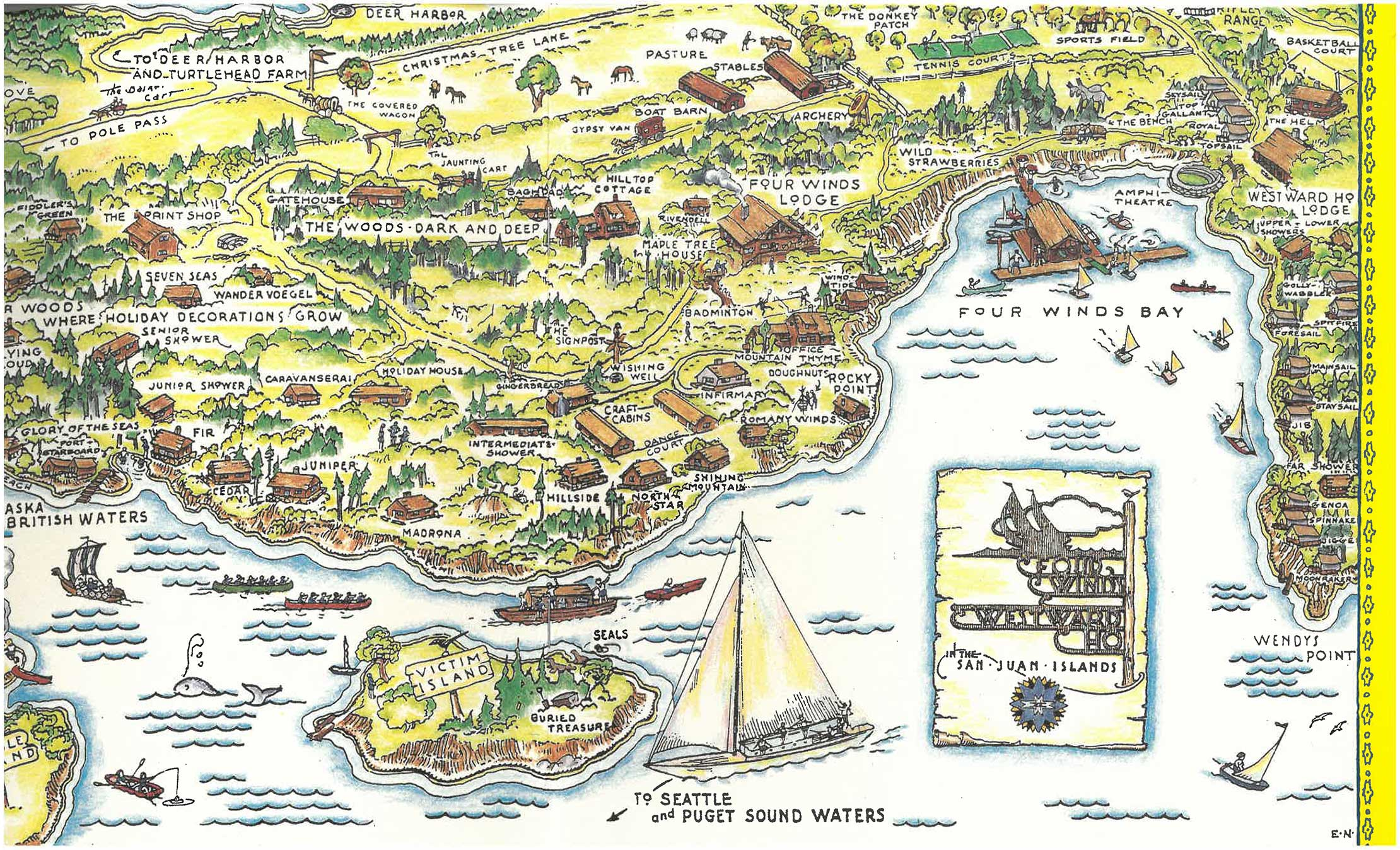 Map of Four Winds Westward Ho camp